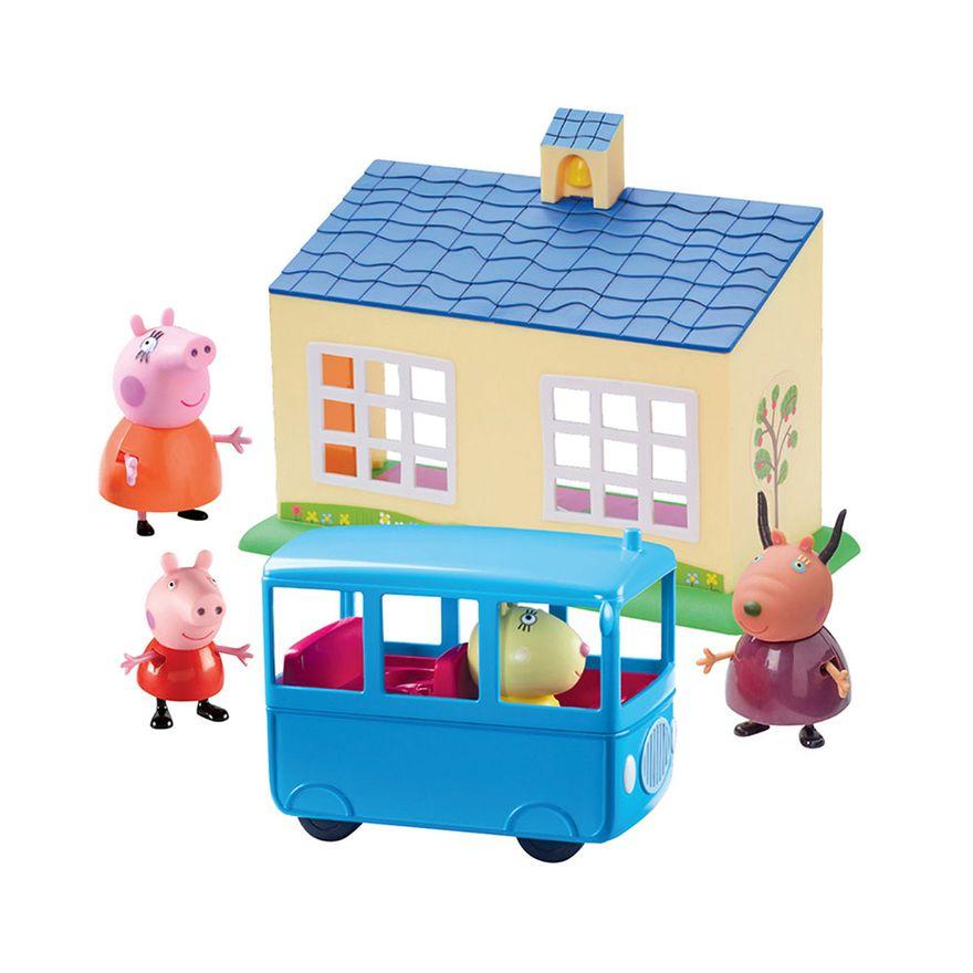 Mini-Figura-e-Acessorios---Escolinha-e-Onibus-Escolar---Peppa-Pig---DTC