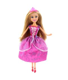 Boneca-Articulada-com-Acessorios---Funville-Sparkle-Girlz---Princesa---Isabella---Vestido-Rosa---DTC