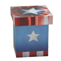 Caixa-Decorativa---20-Cm---Disney---Marvel---Capitao-America---Logo---Mabruk