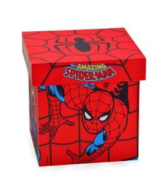 Caixa-Decorativa---20-Cm---Disney---Marvel---The-Amazing-Spider-Man---Vermelho---Mabruk