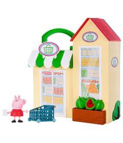 Playset-e-Mini-Figura---Peppa-Pig---Pequena-Mercearia---DTC