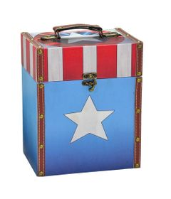 Porta-Treco-Decorativo---26-Cm---Disney---Marvel---Capitao-America---Logo---Mabruk