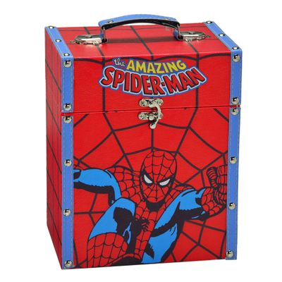 Porta-Treco-Decorativo---26-Cm---Disney---Marvel---The-Amazing-Spider-Man---Vermelho---Mabruk