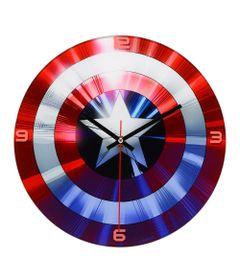 Relogio-de-Parede-Decorativo---Disney---Marvel---Capitao-America---Escudo---Mabruk