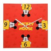 Relogio-de-Parede-Decorativo---Disney---Mickey-Mouse---Vermelho---Mabruk