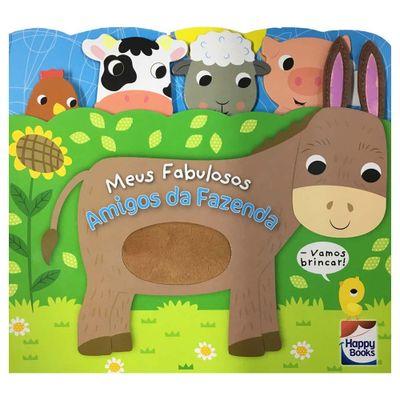 Livro-Infantil---Carinhas-Felizes---Meus-Fabulosos-Amigos-da-Fazenda---Happy-Books