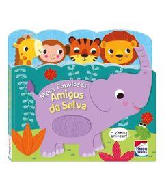Livro-Infantil---Carinhas-Felizes---Meus-Fabulosos-Amigos-da-Selva---Happy-Books