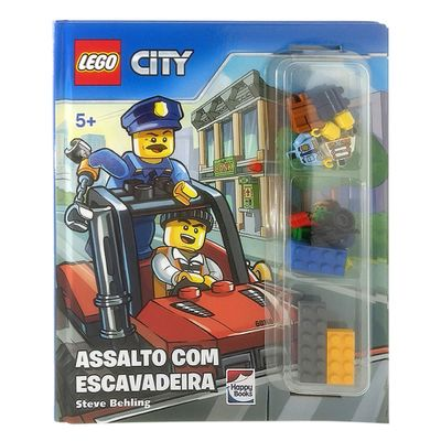 Livro-Infantil---LEGO-City---Assalto-com-Escavadeira---Happy-Books