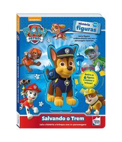 Livro-Infantil---Patrulha-Canina---Historias-com-Figuras---Salvando-o-Trem---Happy-Books