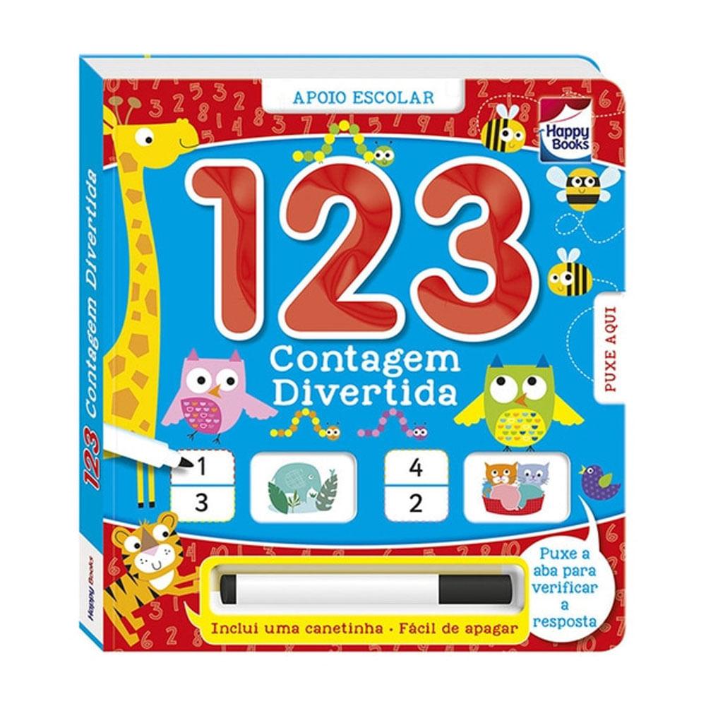 Livro Infantil - Responda e Confira - 1, 2, 3 - Happy Books