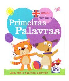 Livro-Infantil---Vamos-aprender---Ingles-e-Portugues---Primeiras-Palavras---Happy-Books