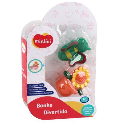Brinquedo-de-Banho---Banho-Divertido---Abelha-e-Flor---Minimi