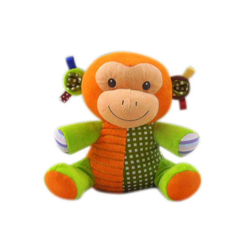 cf3c1288f Pelúcia Infantil - Animais Sentados - Macaco - Minimi - Ri Happy Brinquedos