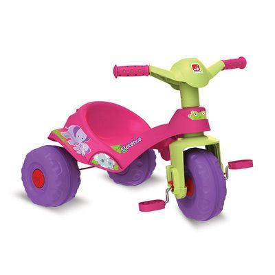 Triciclo-e-Andador-com-Pedal---Mototico---Rosa---Bandeirante