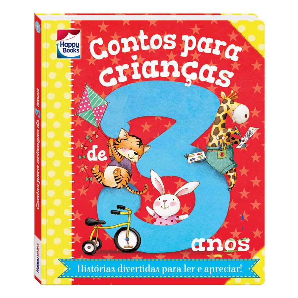 Livro Infantil - Contos Para Crianças - 3 Anos - Happy Books