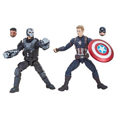 Conjunto-de-Figuras-Articuladas---26-Cm---Disney---Marvel-Studios---10-Anos---Capitao-America---Hasbro