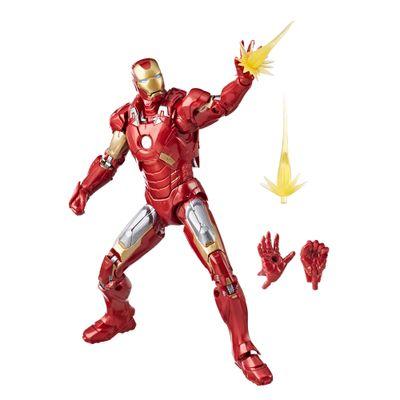 Figura-Articulada---26-Cm---Disney---Marvel-Studios---10-Anos---Iron-Man---Mark-VII---Hasbro