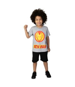 Camiseta-Manga-Curta---Meia-Malha---Cinza-Mescla---Marvel---Iron-Man---Disney---4