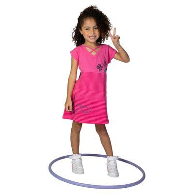 Vestido-Manga-Curta-em-Cotton---Estampa-3D---Rosa---Minnie-Mouse---Disney---4
