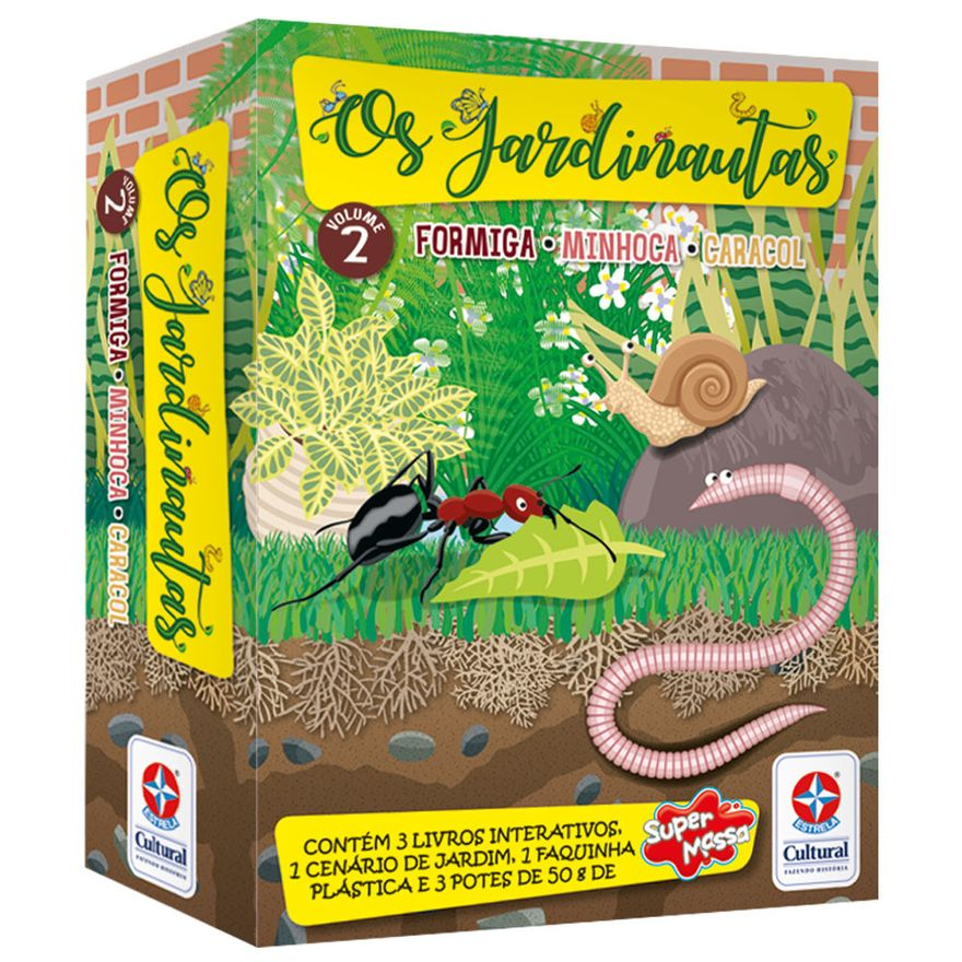 Livro-Interativo---Os-Jardinautas---Formiga-Minhoca-e-Caracol---Estrela