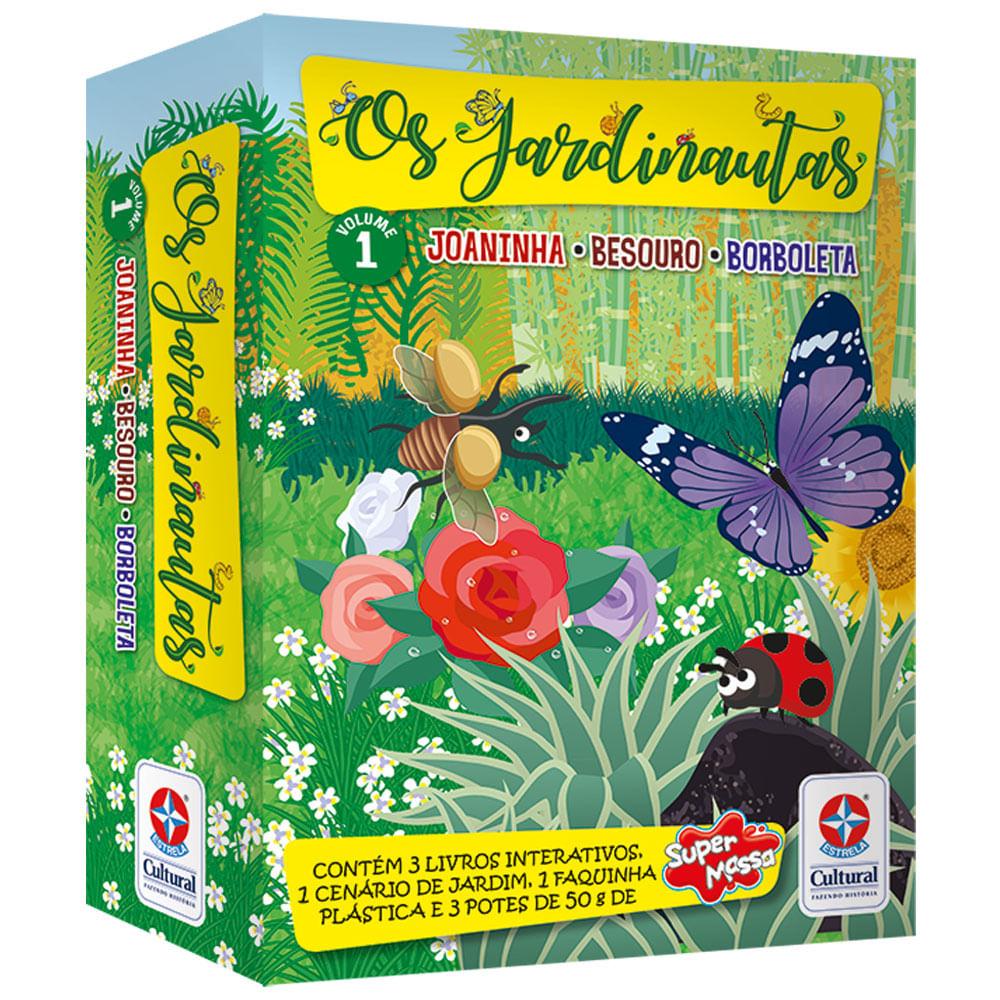 Livro Interativo - Os Jardinautas - Joaninha, Besouro e Borboleta - Estrela