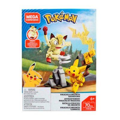 Blocos-de-Montar---Mega-Construx---Pokemon---Pikachu-vs-Meowth---70-Pecas---Mattel