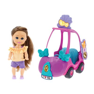 Mini-Boneca---Sparkle-Girlz---Mini-Carro-Sparkles---DTC
