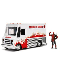 Veiculo-e-Mini-Figura-Colecionavel---Disney---Marvel---Metal---Foodtruck---Deadpool---DTC