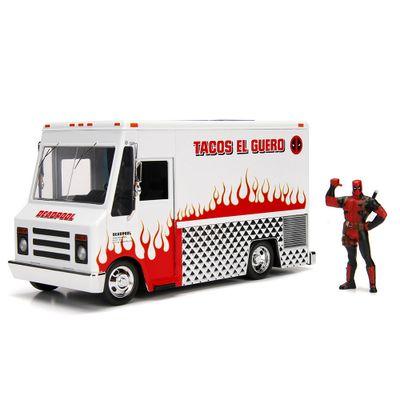 Veiculo-e-Mini-Figura-Colecionavel---Disney---Marvel---Metal---Foodtruck---Deadpool---DTC