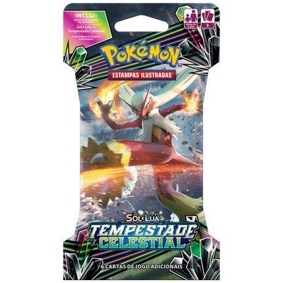 Deck-Pokemon---Blister-Unitario---Sol-e-Lua---Tempestade-Celestial---Blaziken-GX---Copag