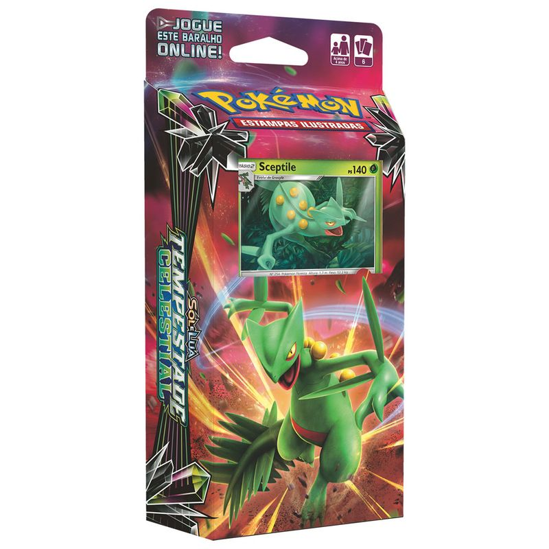 Deck Pokémon - Starter Deck - Sol e Lua - Tempestade Celestial - Sceptile -  Copag - Ri Happy Brinquedos 1938da138c4