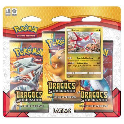Jogo-Pokemon---Triple-Deck---Sol-e-Lua---Dragoes-Soberanos---Latias---Copag