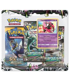 Jogo-Pokemon---Triple-Deck---Sol-e-Lua---Tempestade-Celestial---Tapu-Lele---Copag