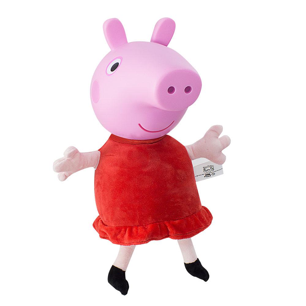 Pelúcia - 40 Cm - Peppa Pig - Cabeça de Vinil - Estrela