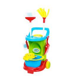 Carrinho-de-Limpeza-e-Acessorios---Cleaning-Trolley---Colorido---Maral