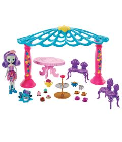 Playset-e-Boneca-Articulada---Enchantimals---Patter-Peacock-e-Quiosque---Mattel