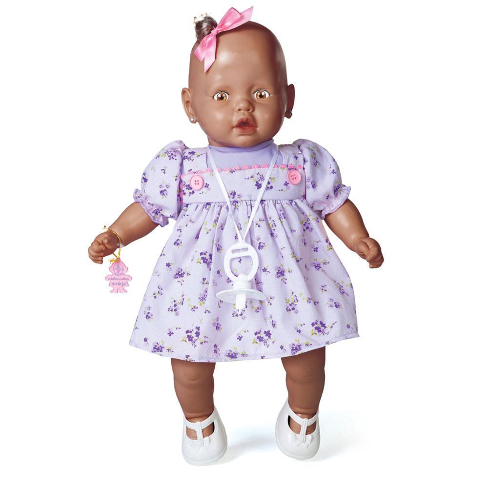 Boneca - Meu Nenezinho Negro - Vestido Lilás - Estrela