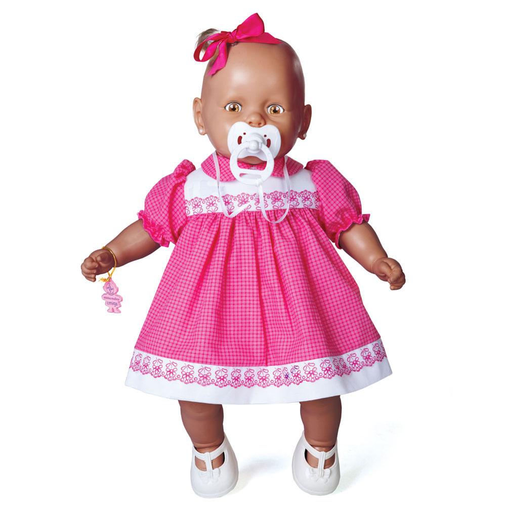 Boneca - Meu Nenezinho Negro - Vestido Rosa - Estrela