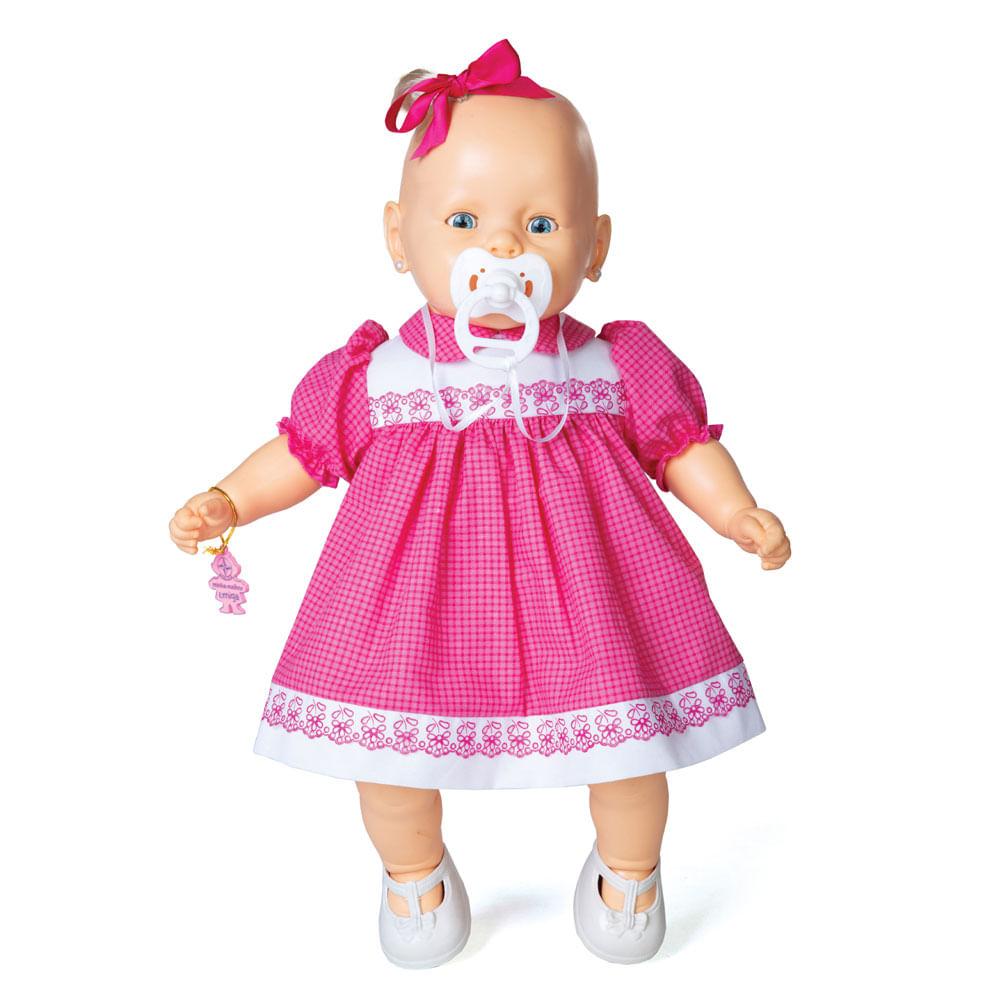 Boneca - Nenezinho - Vestido Rosa - Estrela