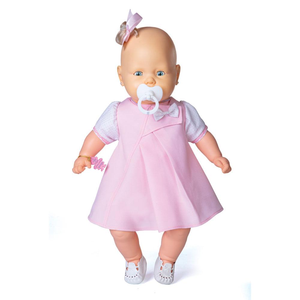 Boneca - Bebezinho - Vestido Rosa Claro - Estrela