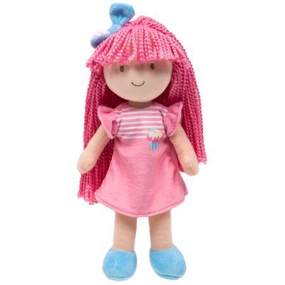 Boneca-de-Pelucia---34-Cm---Cupcake-na-Sacola---Vestido-Rosa---Buba