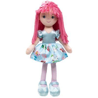 Boneca-de-Pelucia---48-Cm---Flor---Vestido-Azul---Buba