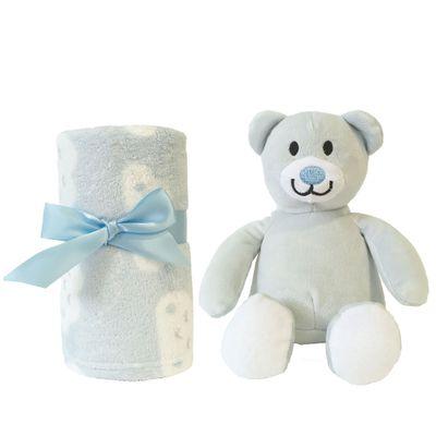 Pelucia-e-Manta---Gift-Ursinho---Azul---Buba