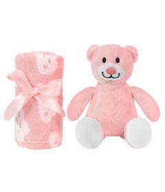 Pelucia-e-Manta---Gift-Ursinho---Rosa---Buba
