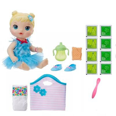 Kit-Boneca-Baby-Alive-e-Acessorios---Bailarina-e-Refil-de-Comida---Loira---C2629---Hasbro