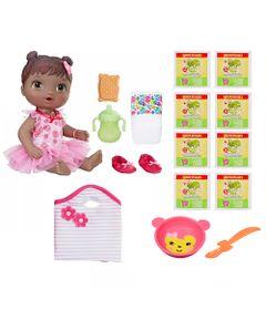 Kit-Boneca-Baby-Alive-e-Acessorios---Bailarina-e-Refis-de-Comida-com-8Un---Negra---E2631---Hasbro