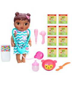 Kit-Boneca-Baby-Alive-e-Acessorios---Cuida-de-Mim-e-Refis-de-Comida-com-8Un---Negra---C2693---Hasbro