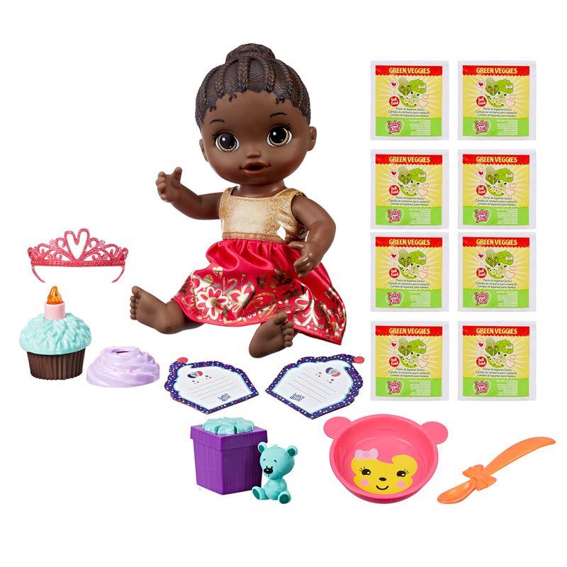 550981b2a7 Kit Boneca Baby Alive e Acessórios - Festa Surpresa e Refis de Comida com  8Un - Negra - E0292 - Hasbro - Ri Happy Brinquedos