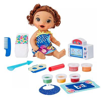 Kit-Boneca-Baby-Alive-e-Acessorios---Meu-Forninho-e-Comidinhas---Morena---E2098---Hasbro