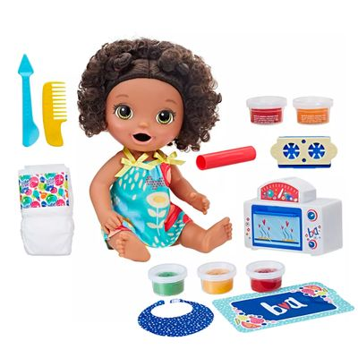 Kit-Boneca-Baby-Alive-e-Acessorios---Meu-Forninho-e-Comidinhas---Negra---E2099---Hasbro